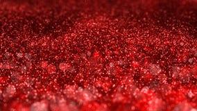 Fundo sem emenda vermelho brilhante do movimento do sumário do laço do Natal VJ do brilho ilustração stock