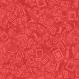 Fundo sem emenda vermelho do retângulo Ilustração Stock