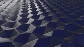 fundo sextavado abstrato geométrico do papel de parede 3D Imagem de Stock Royalty Free