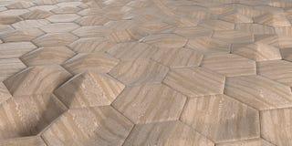 fundo sextavado abstrato geométrico do papel de parede 3D Fotografia de Stock