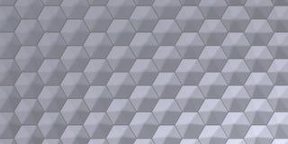 fundo sextavado abstrato geométrico do papel de parede 3D ilustração do vetor