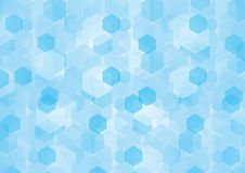 Fundo sextavado azul Fotos de Stock