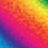 Fundo sextavado colorido brilhante do sumário do favo de mel Imagens de Stock