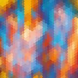 Fundo sextavado colorido brilhante do sumário do favo de mel - vetor Eps 10 ilustração royalty free