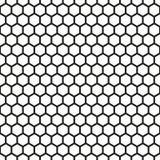 Fundo sextavado sem emenda da textura do teste padrão do favo de mel Foto de Stock