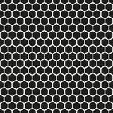 Fundo sextavado sem emenda da textura do teste padrão do favo de mel Imagens de Stock