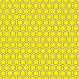 Fundo sextavado sem emenda da textura do teste padrão do favo de mel Fotos de Stock Royalty Free
