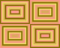 Fundo simétrico retro dos quadrados Fotos de Stock Royalty Free