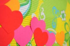 Fundo simples abstrato do coração do amor Fotos de Stock Royalty Free