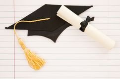 Fundo simples da graduação foto de stock royalty free