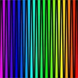 Fundo sob a forma das listras verticais coloridas em um preto ilustração royalty free