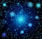 Fundo sob a forma de um céu estrelado Vetor Imagem de Stock
