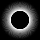Fundo sob a forma de uma esfera branca dos raios ilustração royalty free