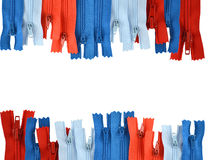 Fundo sob a forma dos zippers Imagem de Stock