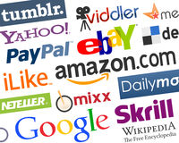 Fundo social colorido dos logotipos dos meios [2] ilustração royalty free