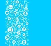 Fundo social da rede do vetor dos ícones ilustração do vetor
