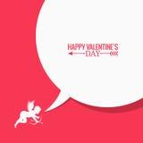 Fundo social do conceito dos meios do dia de Valentim Imagens de Stock