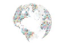 Fundo social do globo dos meios Fotos de Stock Royalty Free