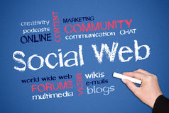Fundo social do Web Imagem de Stock
