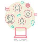 Fundo social dos meios Imagem de Stock