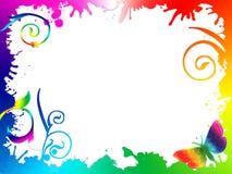 Fundo somado do arco-íris das folhas Fotos de Stock Royalty Free