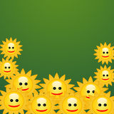 Fundo sorrido das flores ilustração do vetor