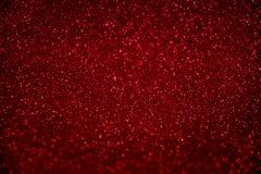 Fundo sparkling vermelho Fundo do brilho de Blured fotografia de stock royalty free