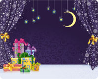 Fundo stagy do Natal Imagens de Stock Royalty Free