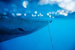Fundo subaquático do iate Imagem de Stock Royalty Free