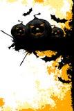 Fundo sujo de Halloween com abóboras e bastões ilustração stock