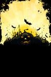 Fundo sujo de Halloween com abóboras Fotos de Stock