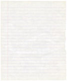 Fundo sujo velho da textura da folha do papel de nota Imagem de Stock Royalty Free