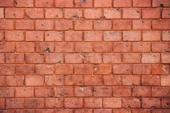 Fundo sujo velho e resistido da textura da parede de tijolo vermelho fotos de stock royalty free