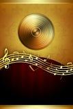 Fundo superior da música ilustração do vetor