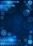 Fundo técnico abstrato com engrenagens Imagem de Stock