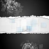 Fundo técnico do Grunge com papel da borda áspera ilustração do vetor