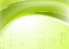 Fundo técnico geométrico ondulado verde abstrato ilustração do vetor