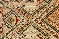 Fundo tecido mão de matéria têxtil, Laos imagens de stock