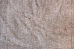 Fundo tecido pano de saco esmagado do teste padrão da textura Foto de Stock