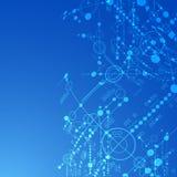 Fundo tecnológico abstrato Imagem de Stock