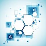 Fundo tecnológico abstrato Fotografia de Stock