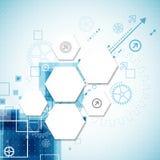 Fundo tecnológico abstrato Imagens de Stock