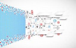 Fundo tecnológico abstrato Imagem de Stock Royalty Free
