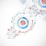 Fundo tecnológico abstrato Ilustração do vetor Fotos de Stock Royalty Free