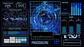 Fundo tecnologico de HUD Futuristic