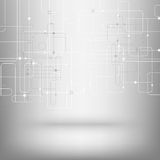 Fundo tecnologico do vetor com uma textura da placa de circuito ilustração do vetor