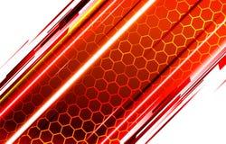 Fundo tecnologico dos favos de mel da abelha ilustração royalty free