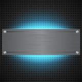 Fundo tecnologico perfurado com laser azul Imagens de Stock
