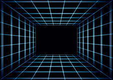 Fundo telhado escuro abstrato com uma perspectiva 3d Imagem de Stock