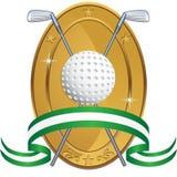 Fundo temático do golfe - moeda do louro ilustração royalty free